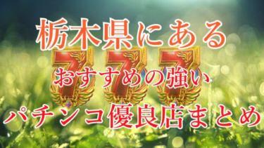 栃木県のパチンコスロットが強いパチンコ優良店を厳選!《勝率アップ》