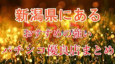 新潟県のパチンコスロットが強い!パチンコ優良店を厳選《勝率アップ》